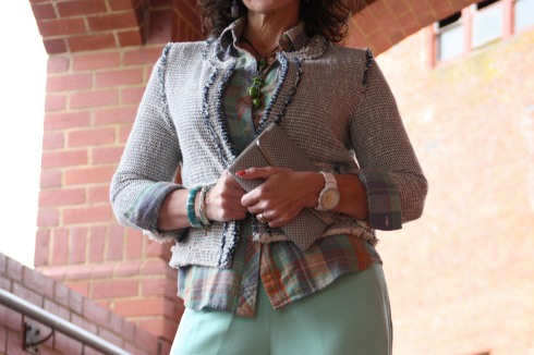 Tweed Plaid and Silk