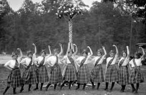 Dancing around the May Pole