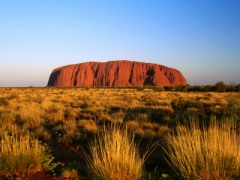 Uluru in the Great Australian Desert