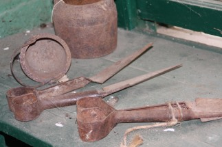 Tools in shearer's shed