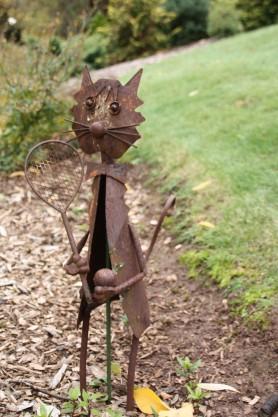 Cat Sculpture near Tennis Court at Ercildoune
