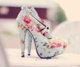 Rose print shoes - lovely for Spring