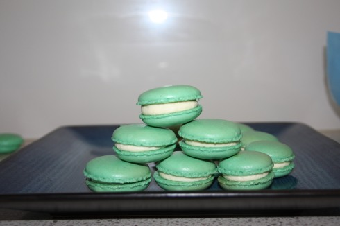 Finished Kaffir Lime Macarons
